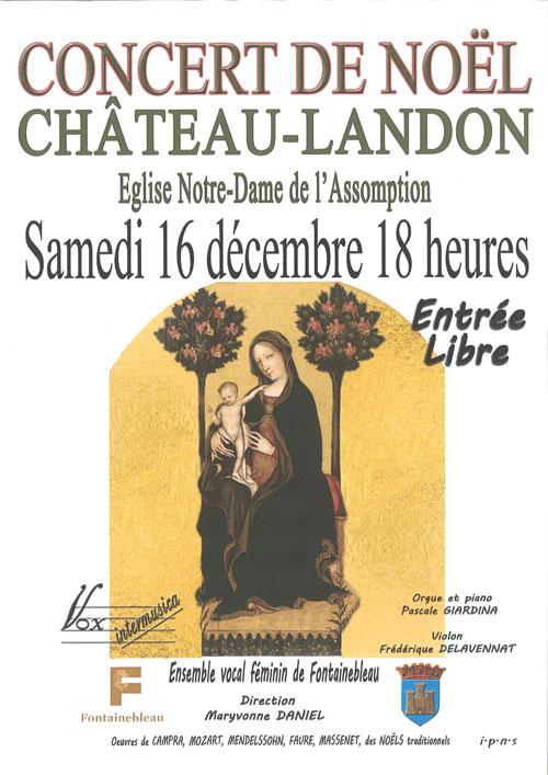 CONCERT DE NOËL @ à l'Eglise Notre Dame de l'Assomption | Château-Landon | Île-de-France | France