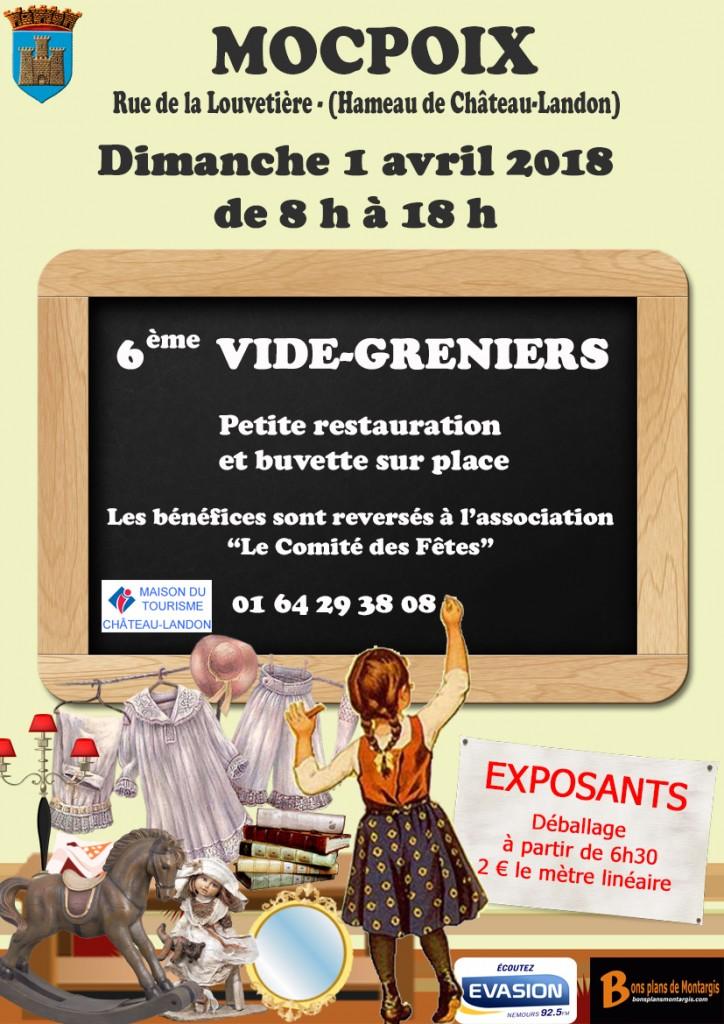 6ème Vide-Greniers - Mocpoix @ Château-Landon