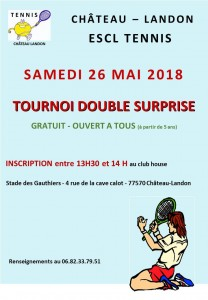 Tournoi Double Surprise le 26 mai 2018