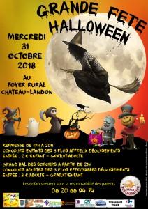 Fête Halloween le mercredi 31 octobre 2018