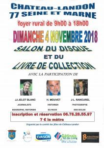 Salon du Disque et du Livre de Collection le 4 novembre 2018