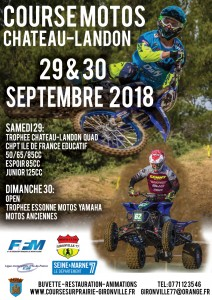 Course de motos le 29 et 30 septembre 2018