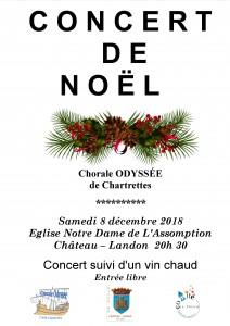 Concert de Noël à l'Eglise de Château-Landon le samedi 8 décembre