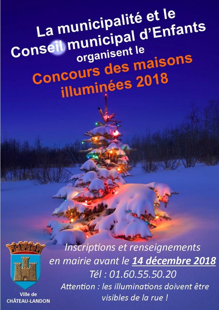 affiche concours maisons illuminées 2018