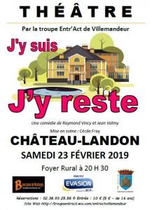 """Comédie intitulée """"J'y suis, j'y reste"""" le 23 février 2019 au Foyer rural"""