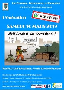 Opération Ville propre du 16 mars 2019