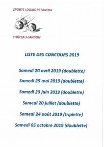 Concours de Pétanque 2019
