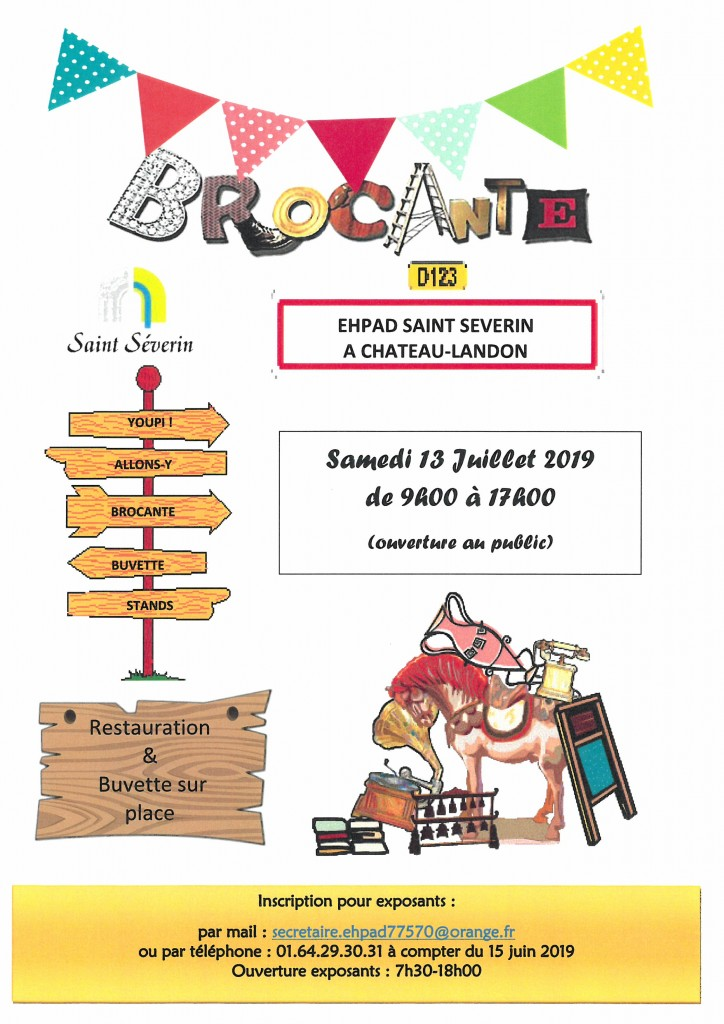 Brocante EHPAD SAINT SEVERIN