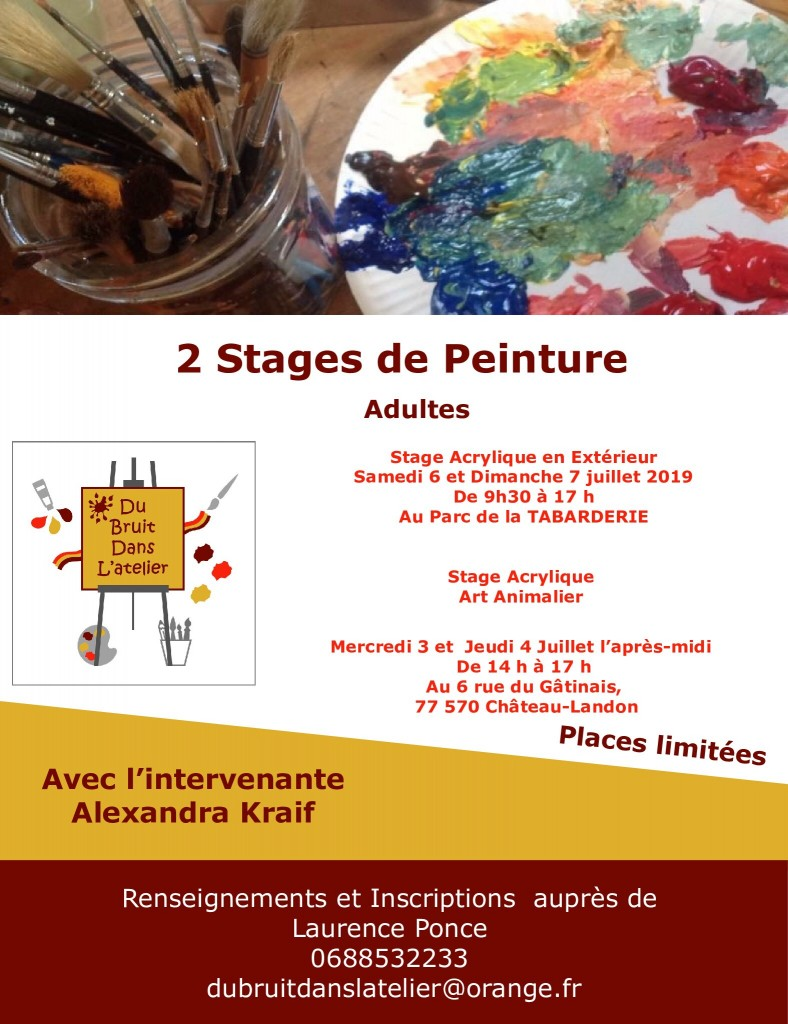 Flyer stages - Adulte Juillet 2019