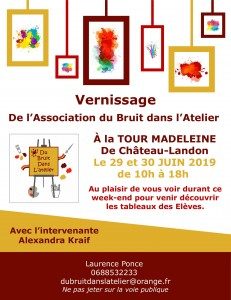 Vernissage de l'Association du Bruit dans l'Atelier
