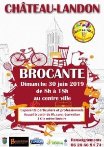 Brocante le 30 juin 2019 au Centre Ville