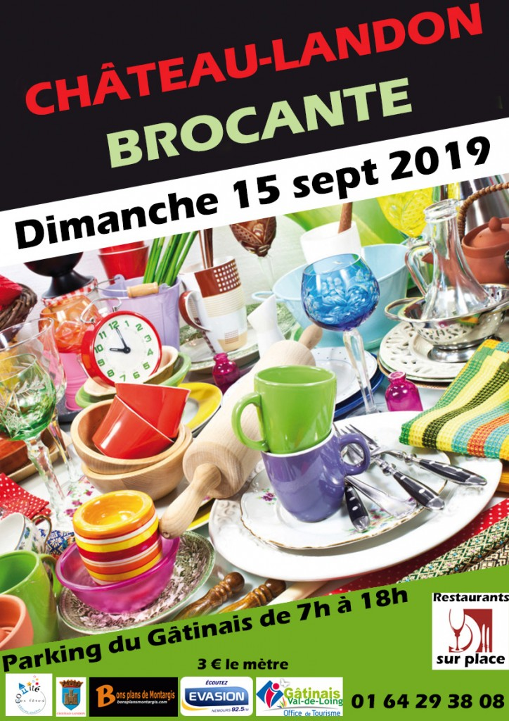 brocante chateau landon sept 2019