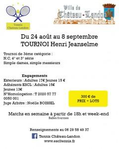 Tournoi Henri Jeanselme du 24 août au 8 septembre