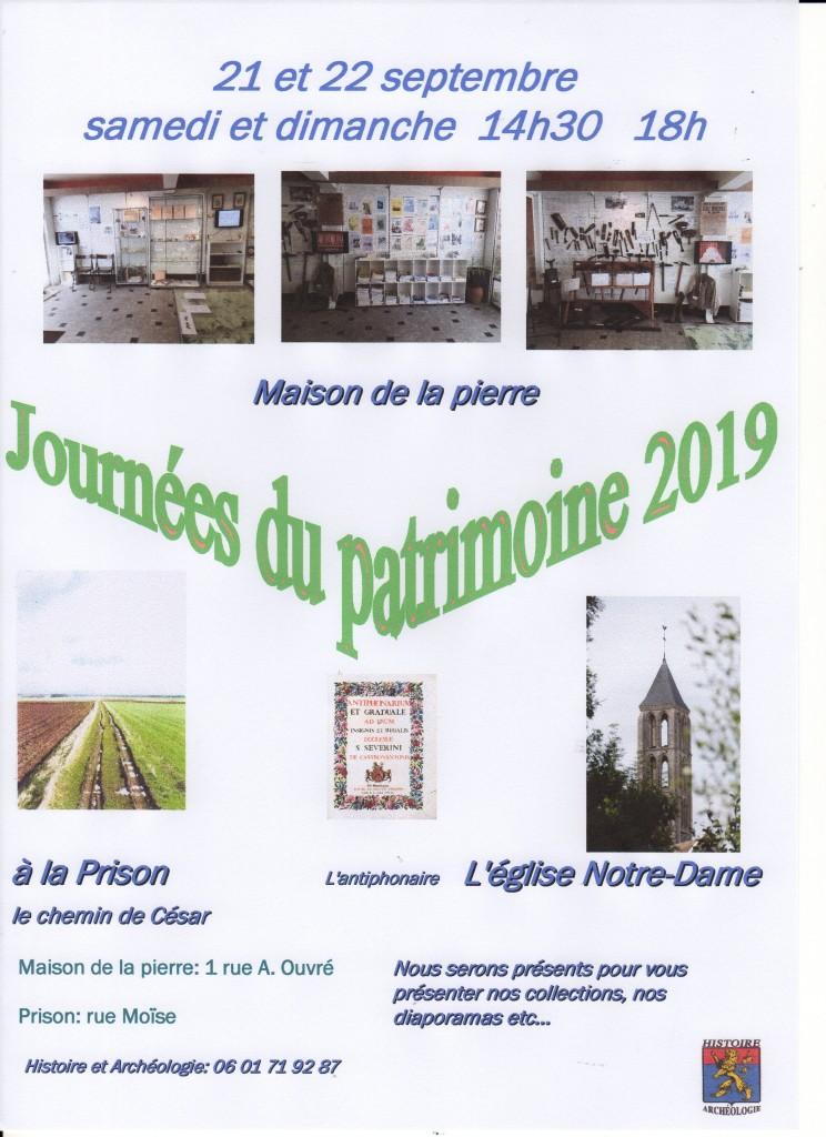 affiche J Patrimoine 2019