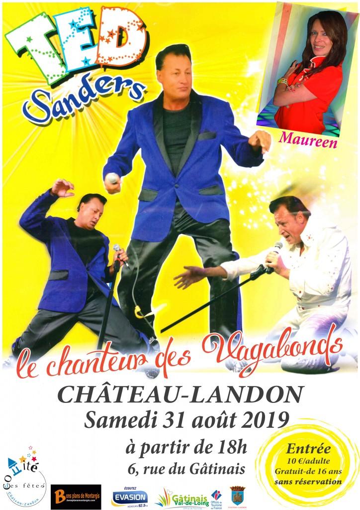 affiche concert Ted Sanders