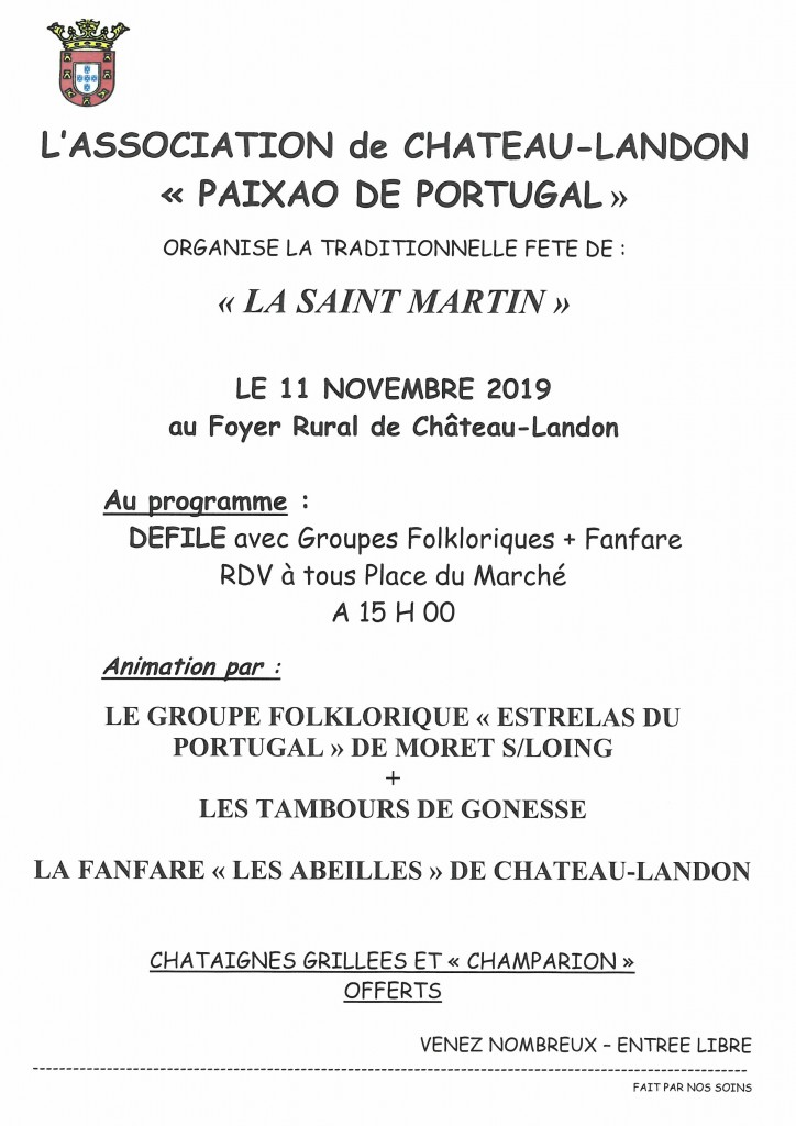 Paixao de Portugal le 11 novembre