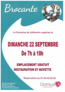 Brocante au Domaine de Jallemain le dimanche 22 septembre de 7h00 à 18h00