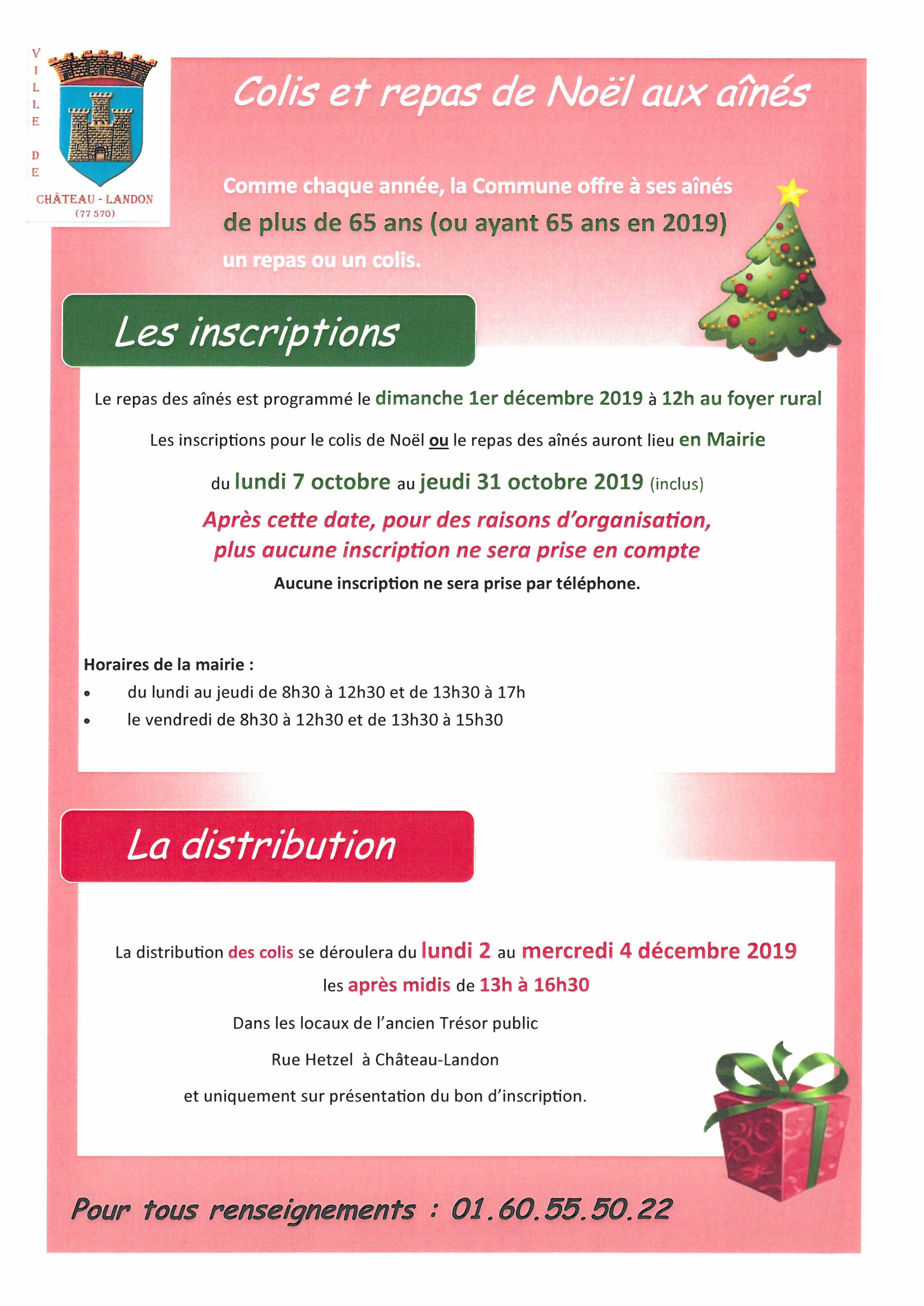 Menu Simple Repas De Noel.Inscriptions Pour Le Colis De Noel Ou Repas Aux Aines