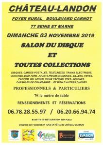 Salon du disque et toutes collections le dimanche 3 novembre 2019