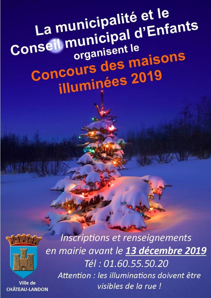 affiche concours maisons illuminées 2019