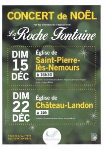 Concert de Noël le 22 décembre 2019 à 16h à l'église de Château-Landon