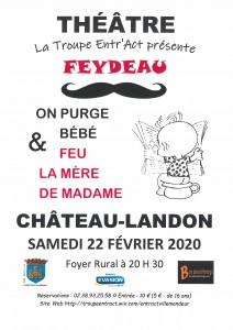"""Pièce de Théâtre """"Feydeau"""" le samedi 22 février 2020 à 20h30 au Foyer rural"""