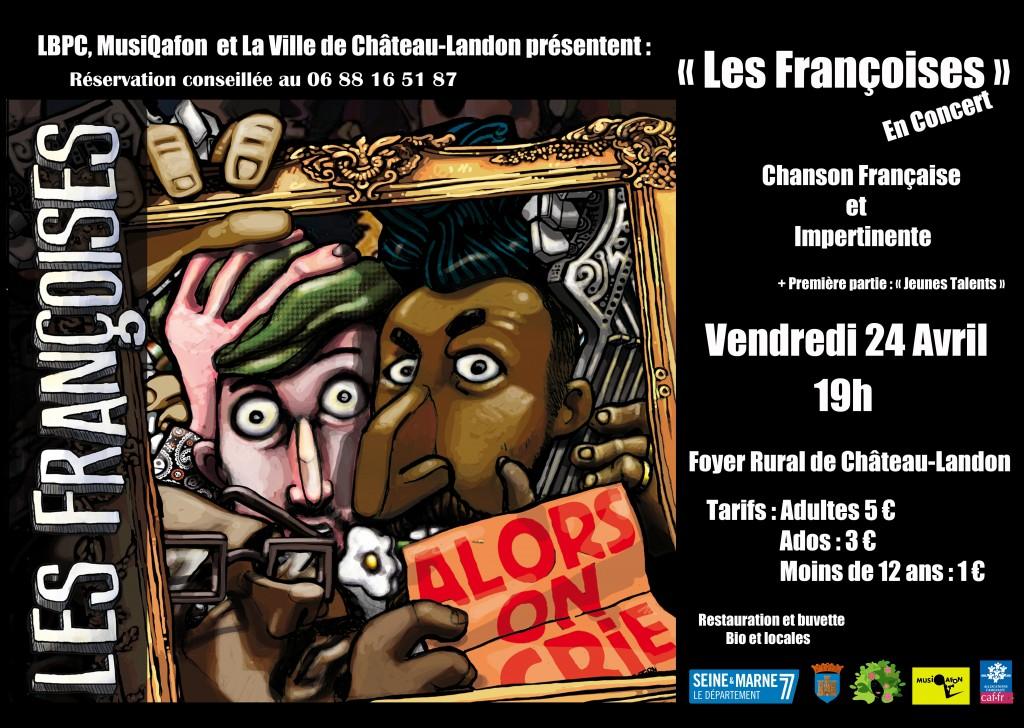 affiche françoises concert avril 2020